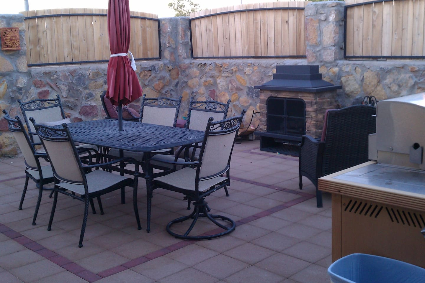 Outdoor grill and dining