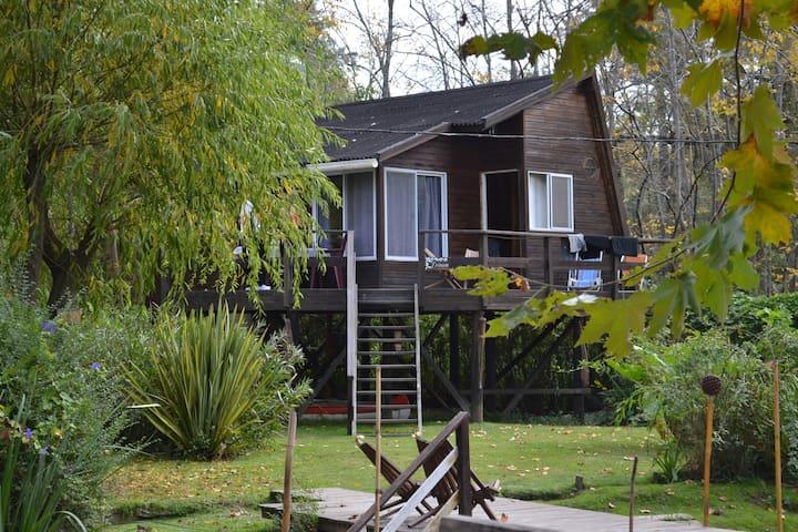 3 Cabanas equipadas en  el Delta Tigre con Playa - Buenos Aires - Cabin