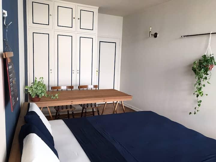 Edifício Copan: Quarto Blue Moon | cama super king