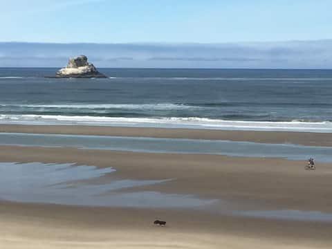 海岸の平和と静けさ