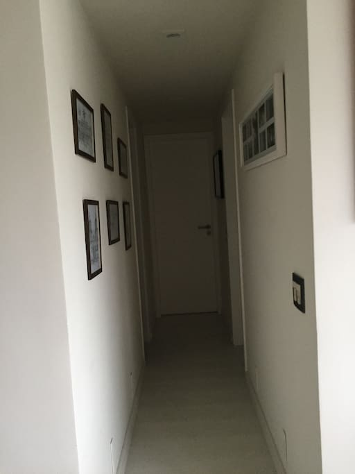 This is the hallway that brings out guests to the main room and bathrooms.