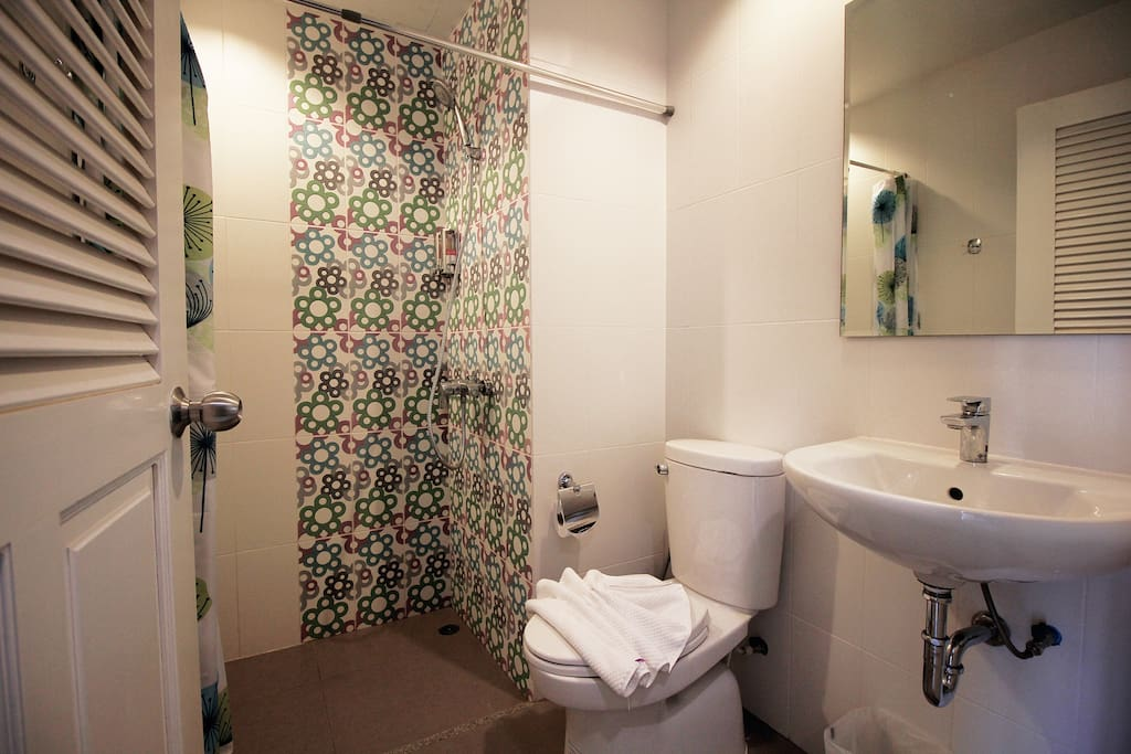 Private toilet with toilet amenities