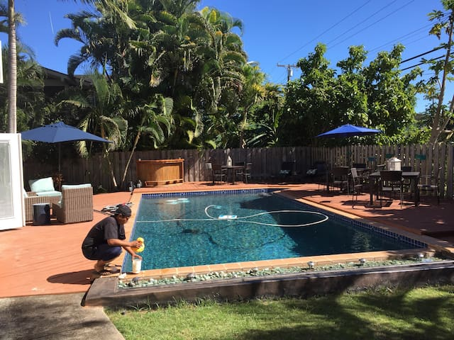 Pool/beach house- your own resort! - Waialua - Casa