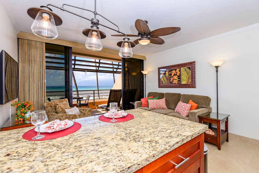 Luxury and tranquility await at Kuleana 614.  Enjoy stunning ocean views from the kitchen, living room and private lanai.