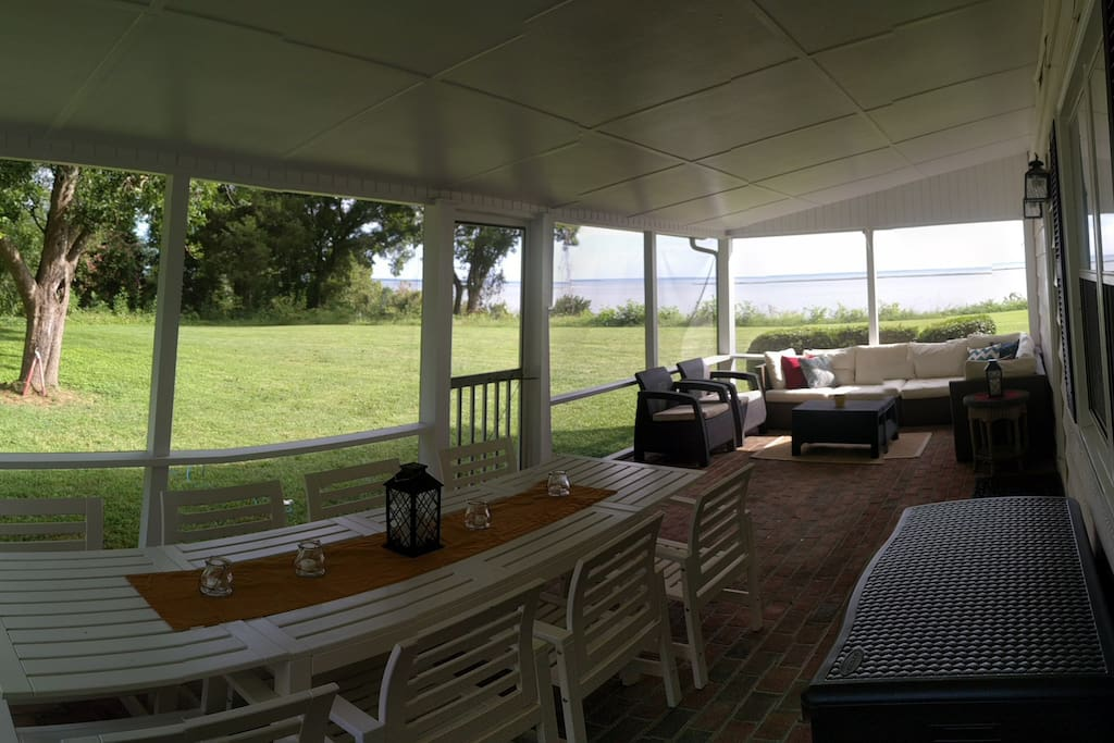 Also on the screened porch is an outdoor dining area for 8.