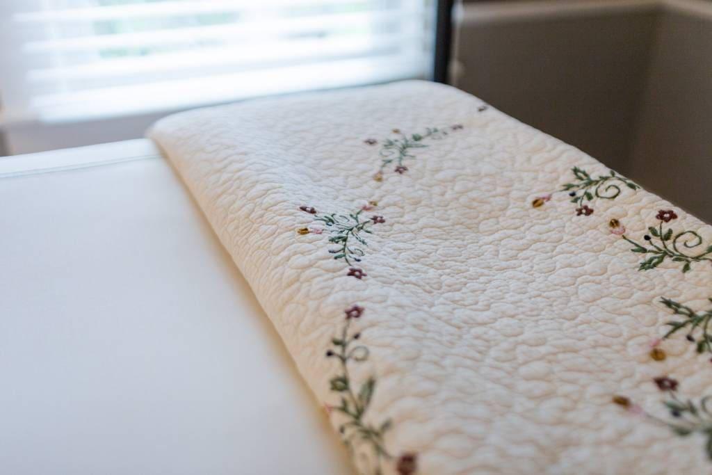 Luxury bedding makes a good night sleep