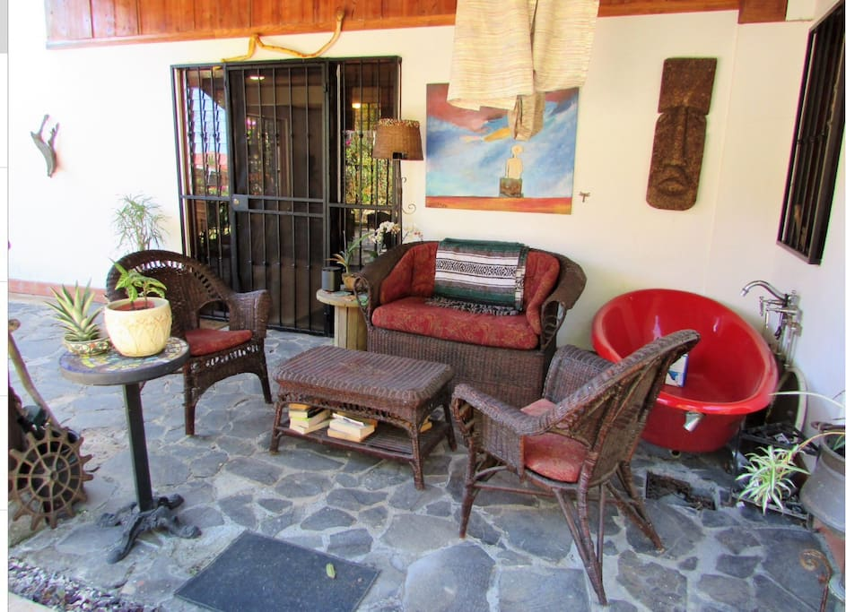 Relax in our outdoor patio - great in the morning