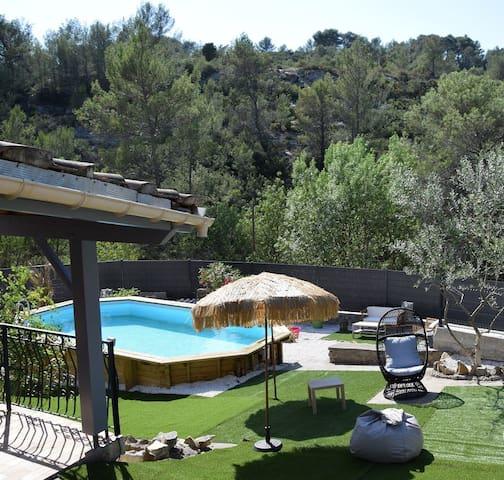 Villa vacances isolée piscine SPA - Cazouls-lès-Béziers - Casa