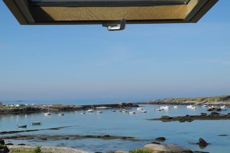 Maison pleine vue mer port de melon - Porspoder - Dom