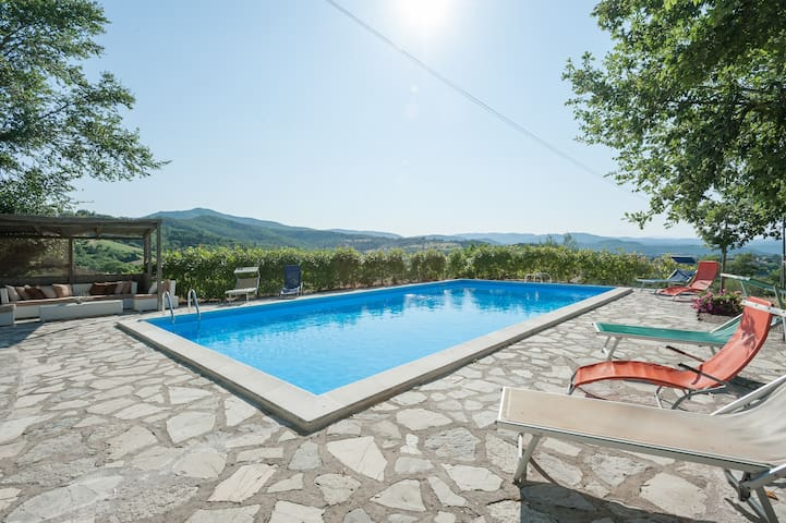 Charming Villa Private Pool & A/C Umbria/Tuscany