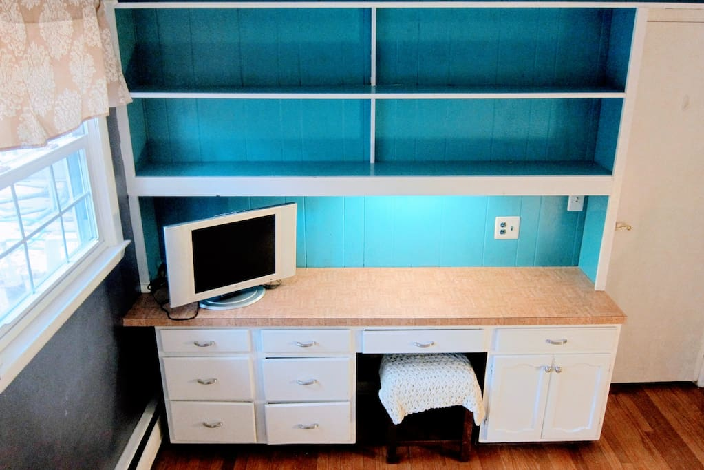 Desk in your private bedroom