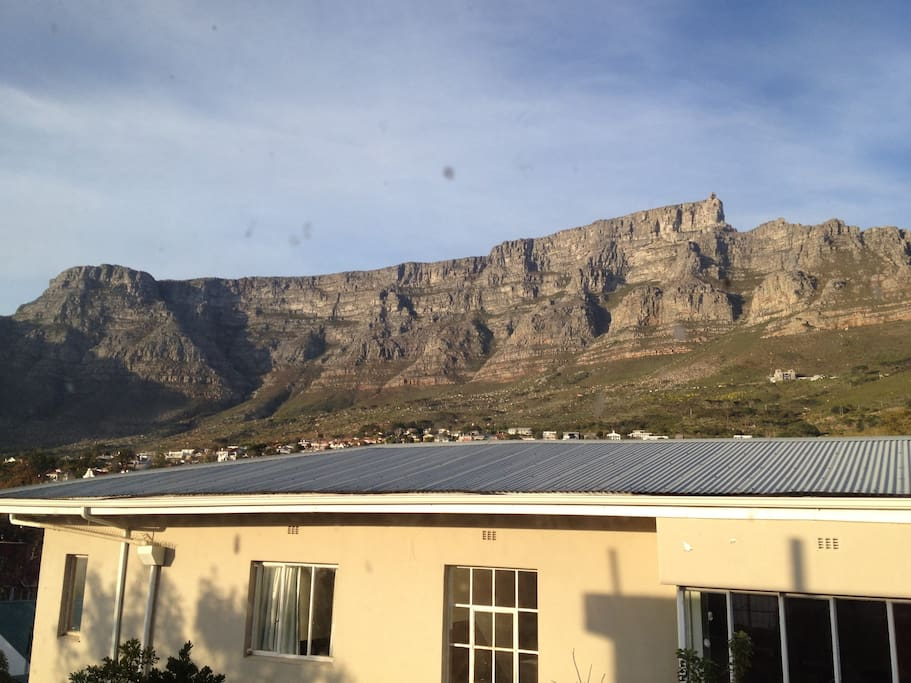 View of table mountain from the bedroom