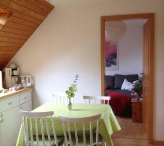 Sehr kleine, helle Wohnung unter dem Dach