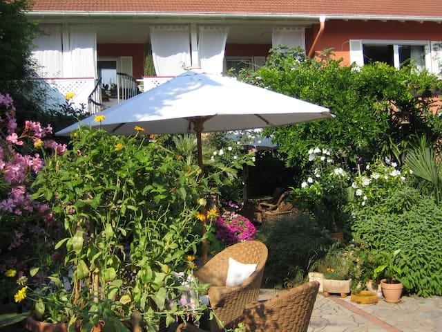 Ruhiges Haus, mediterraner Innenhof - Uelversheim - Casa