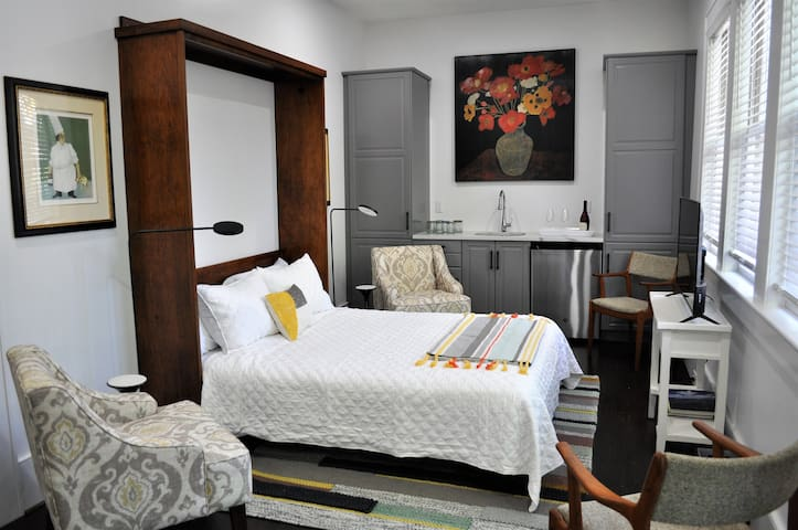 Comfortable and clever Murphy bed.