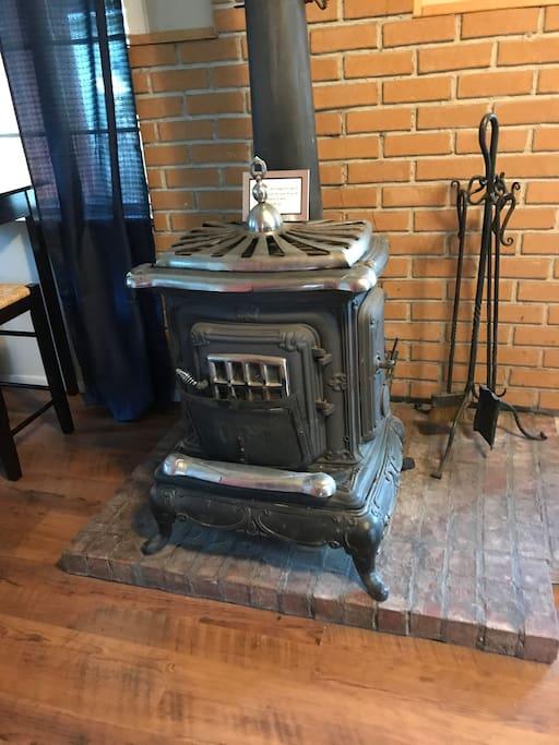 Vintage wood burning stove