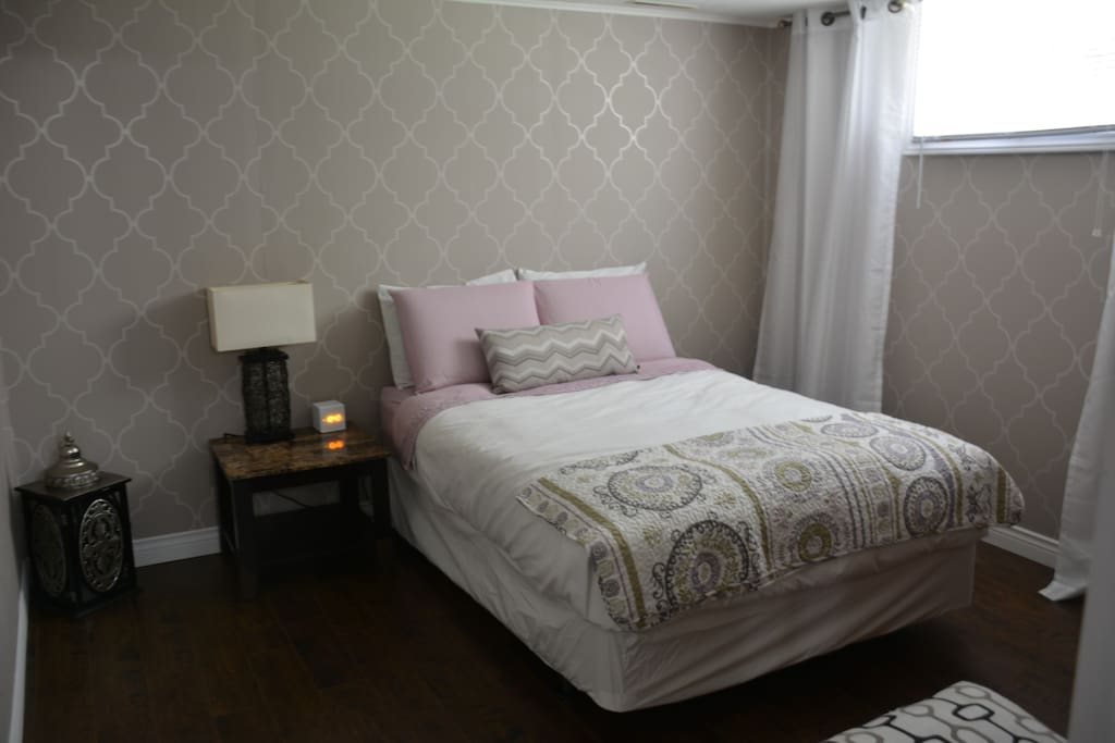 Double Bed, with added padding for a great nights sleep!