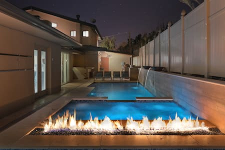 Uptown Luxury Pool Home with Views, Walk to Town