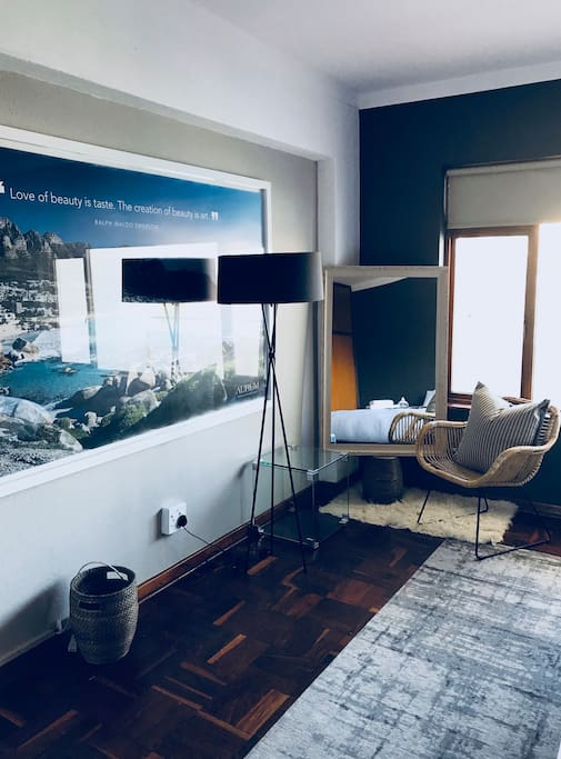 Bedroom mural and seating spot