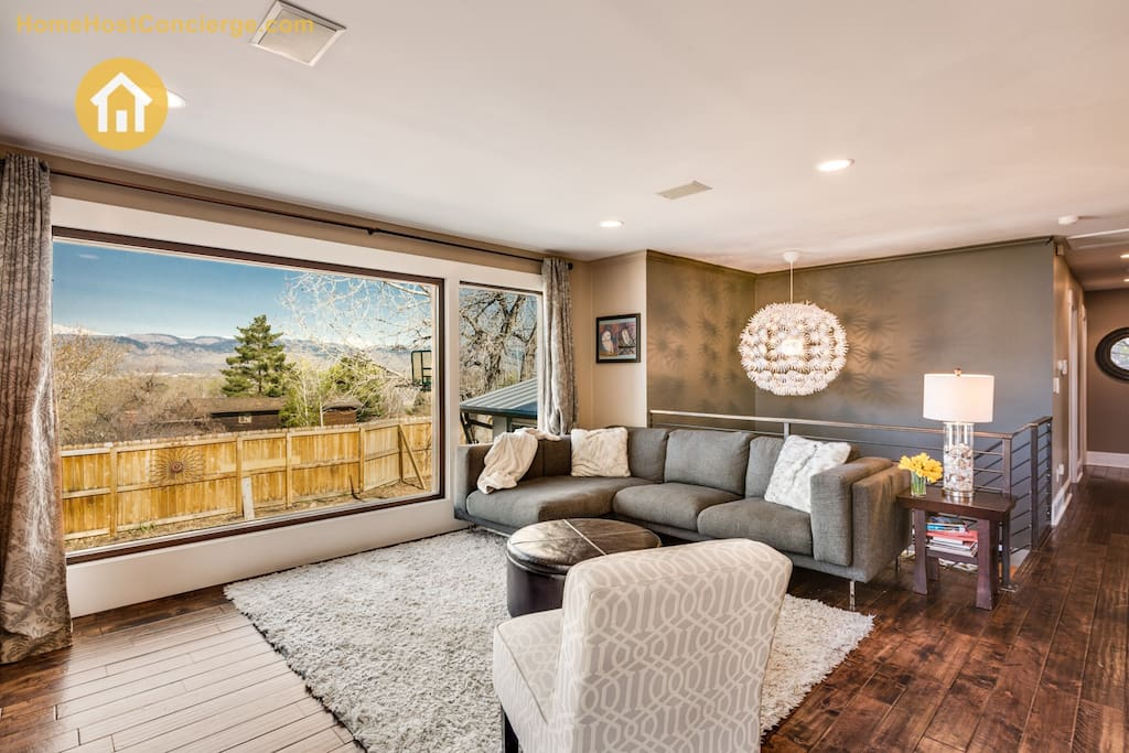 Living area with sectional couch