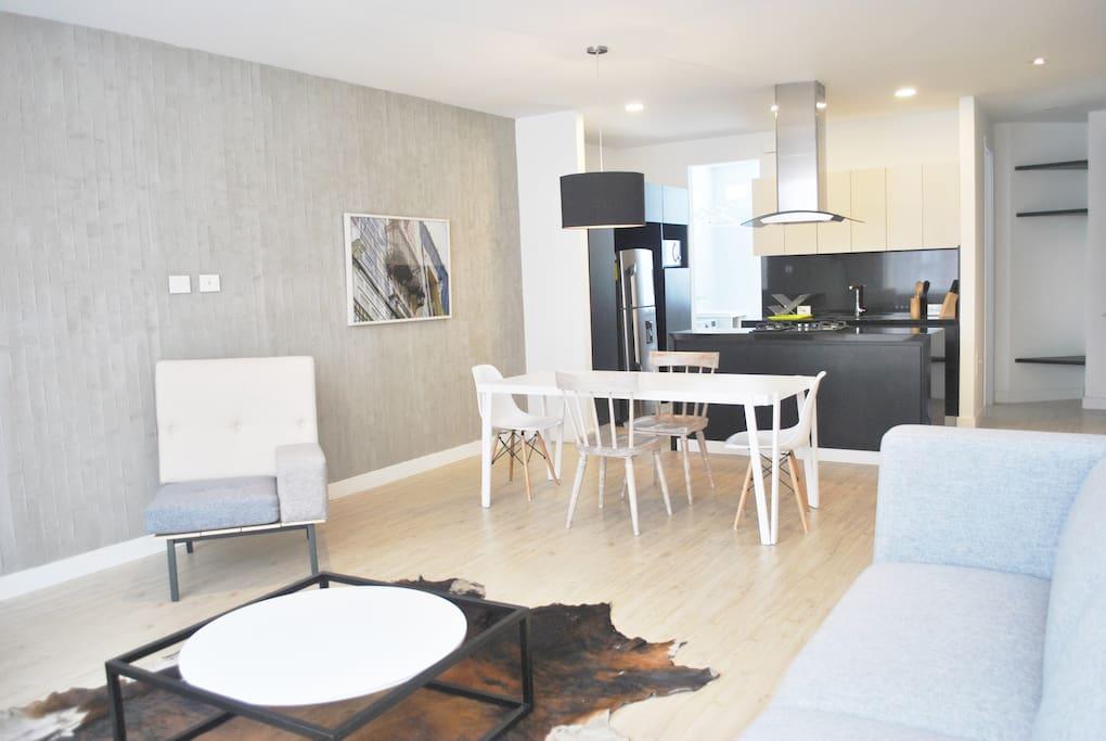 New 1br apartment close to the zona g flats for rent for Apartamentos nuevos en bogota