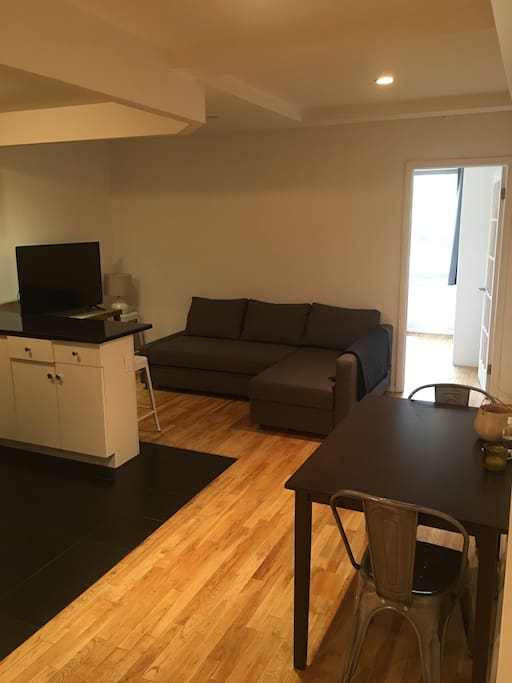 Main living area/common space with small dining table