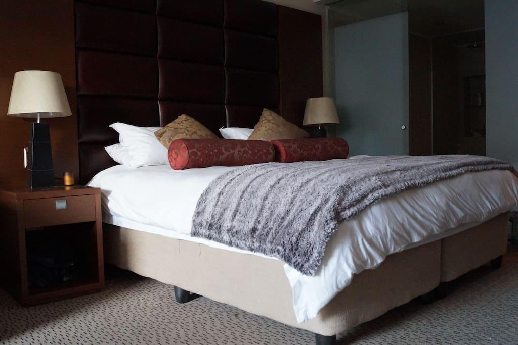 Big soft Bed, perfect for deep comfortable sleeps