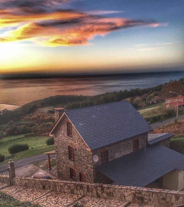 Casa r stica t pica gallega cottage in affitto a cedeira - Piedra rustica gallega ...