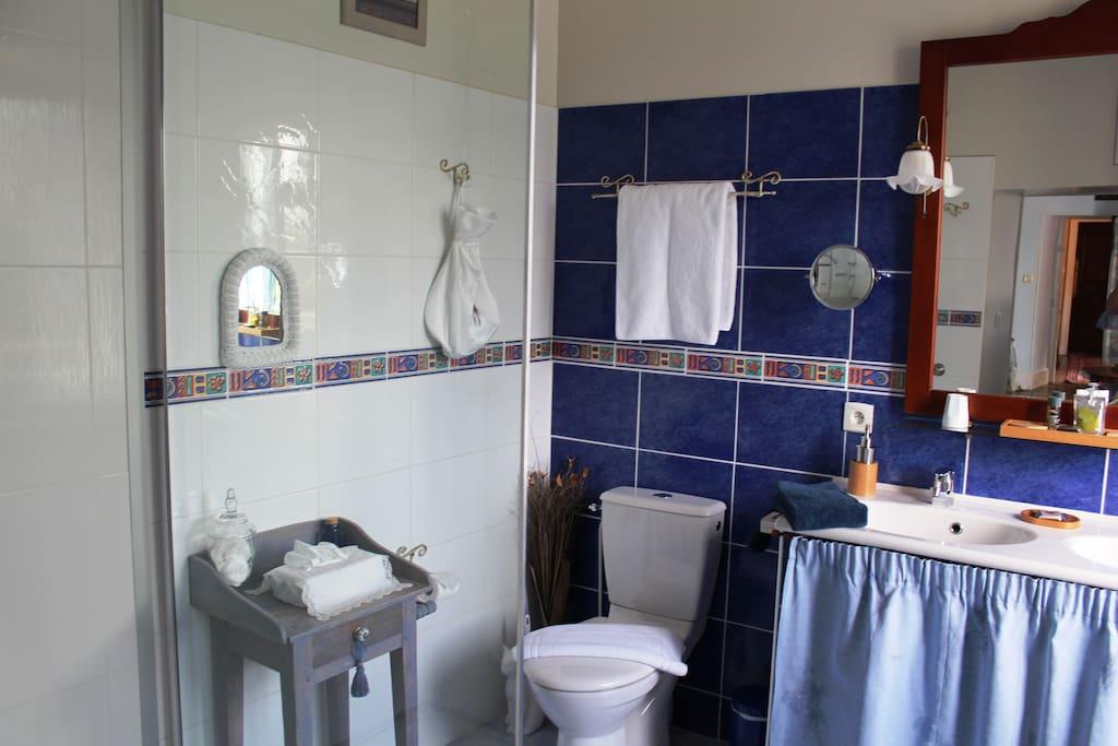 Salle de bain Heures Bleues