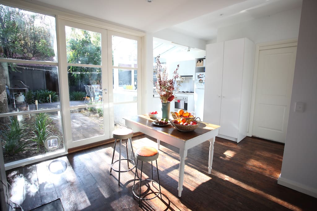 Make yourself at home in the sunny kitchen cook up a storm