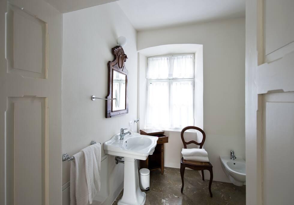Schönes Badezimmer in der Karl Moeser Suite