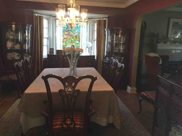 Large family dining room to host great get togethers