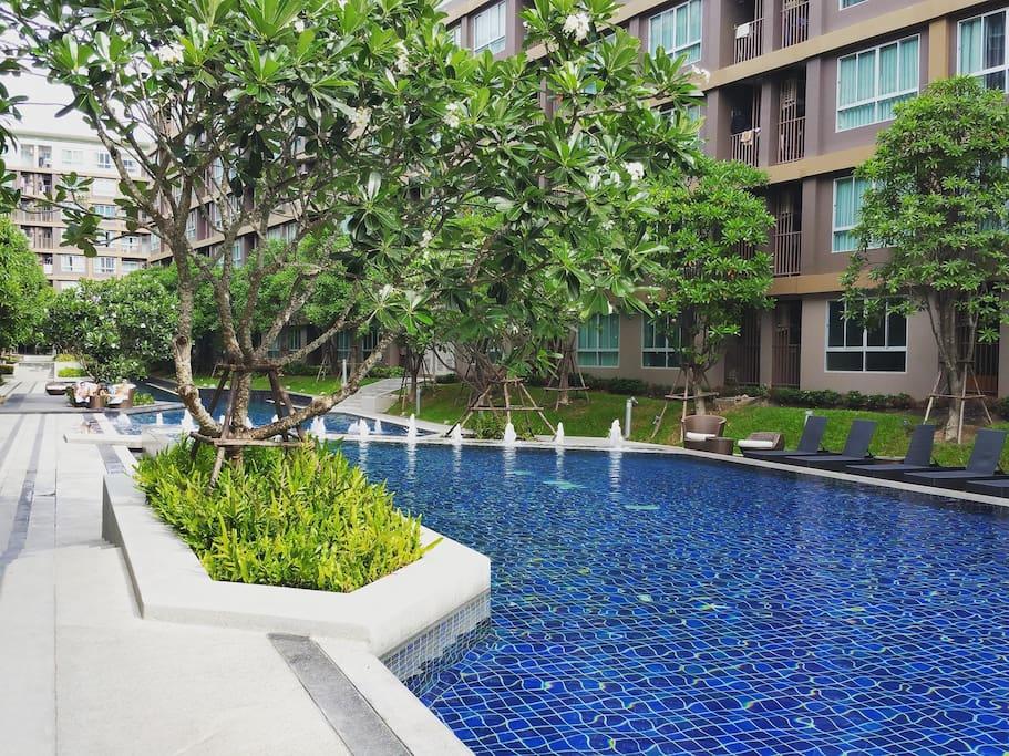 100 meters pool