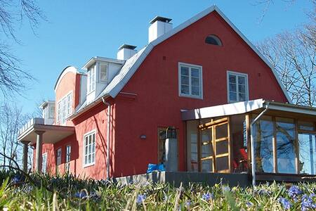 Dubbelrum med utsikt på vacker gård - Skåne Tranås