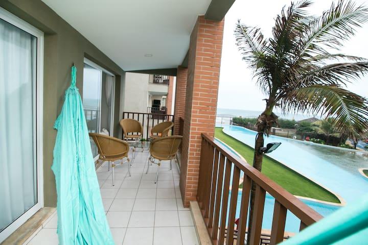 Acqua Resort Apto em Frente ao Mar