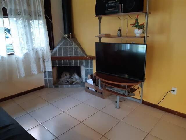 Casa de 3 quartos, com lareira e sauna em Amparo