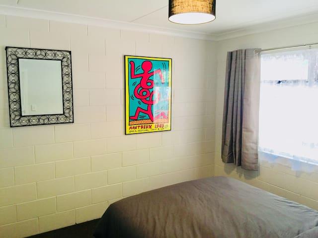 Bedroom 2: double bed, linen & double wardrobe