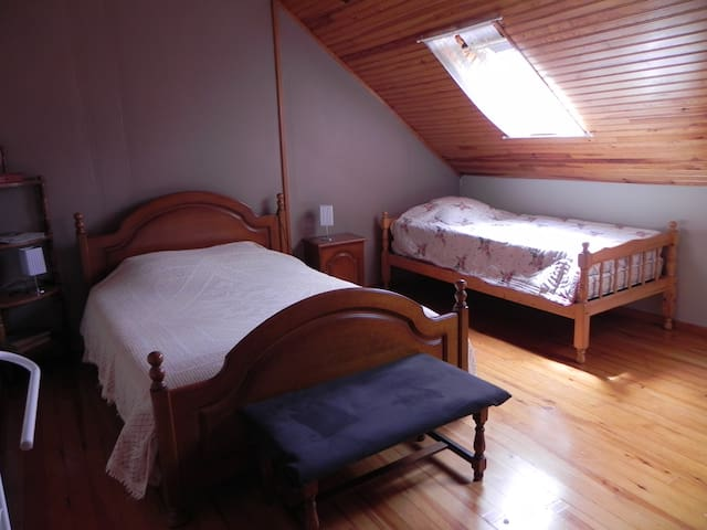 Chambre 2 (lit en 140cm et lit en 90cm)