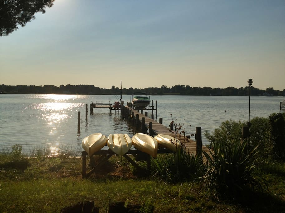Kayaks and dock