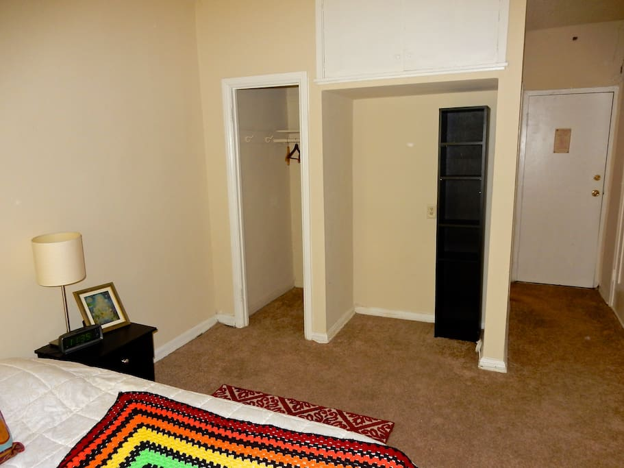 Spacious closet. Private entry to the room.