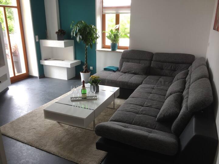 Moderne Luxuriöse Wohnung in Villa