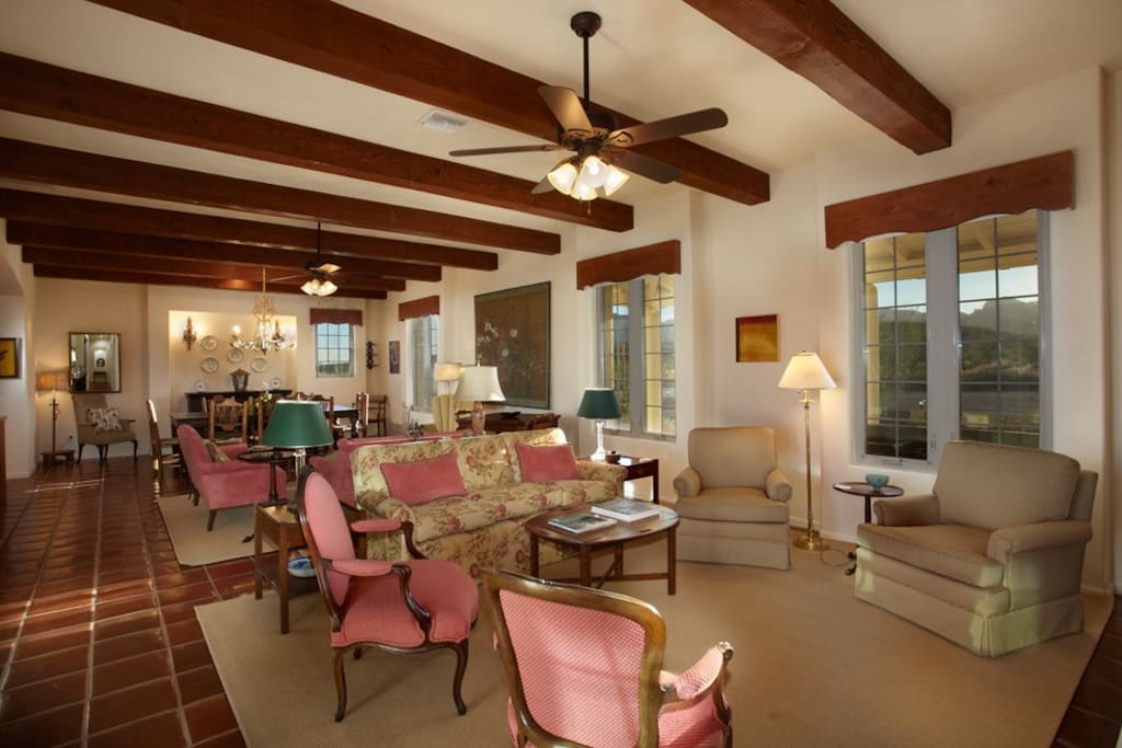 Great room for conversation, movies, board games, relaxing.