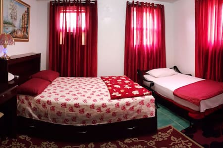 Classic Spacious Red Velvet Room