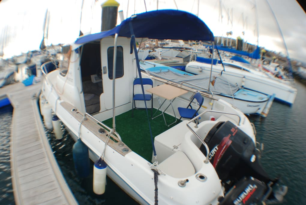 easy to get on and off the boat with side berth .