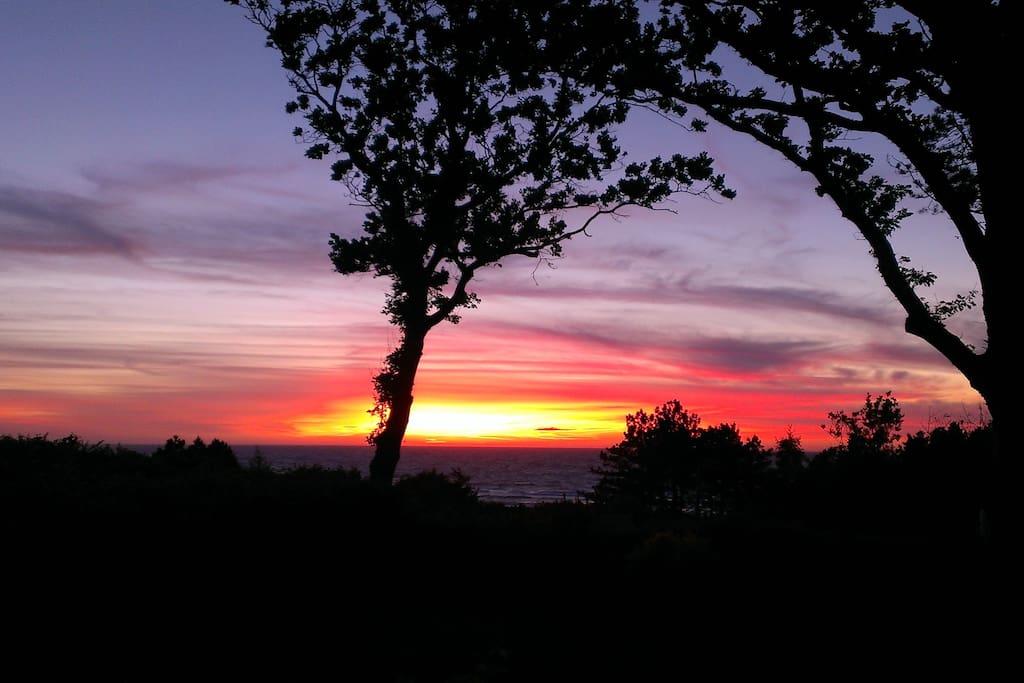 solnedgang fra terrasse