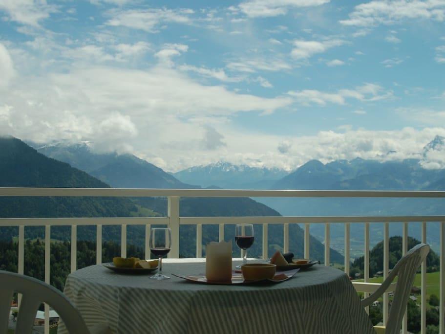 Romantic mountain setting