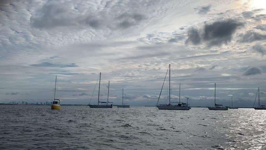 Artsy & Charming Boat- AMAZING WATER VIEWS!