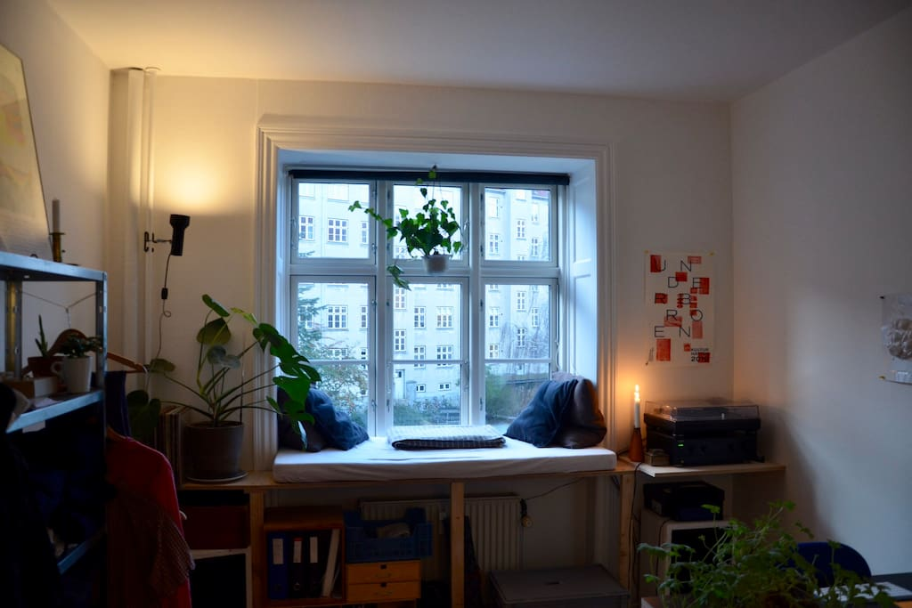 Picture of my windowsill - perfect for relaxing and reading