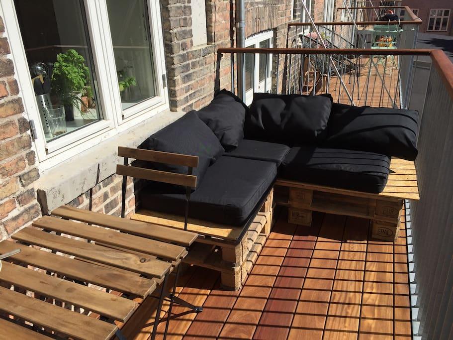 Lounge Sofa on the balcony