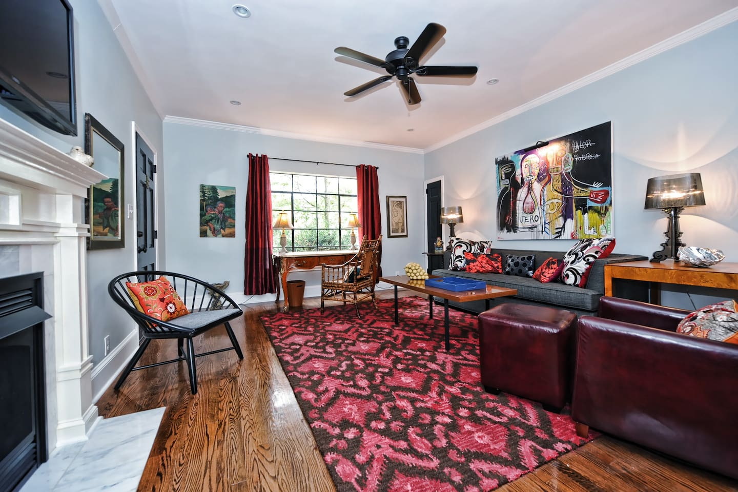 The large living room is great for entertaining.